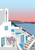 Greek Island Village