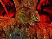 3D Fantasy Illustration of African Bush Squirrel