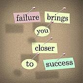 Failure Brings You Closer to Success Bulletin Board Saying