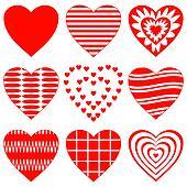 Valentine heart, set