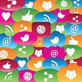 Social network talk bubbles