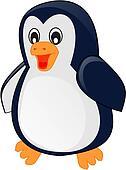 Cartoon baby penguin. illustration,