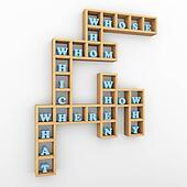Question words crossword shelf