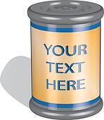 jar with logo / text