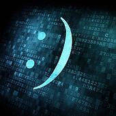 Emoticon on digital screen
