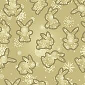 Christmas background rabbits