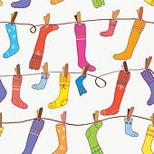 Socks seamless funny wallpaper cartoon