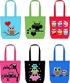 fashion bags with owls