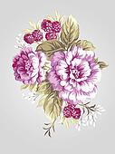 hand drawn flower 7068