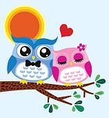 owl valentine card design