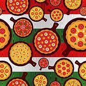 Italian pizza flavors pattern