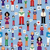 Social media people network pattern