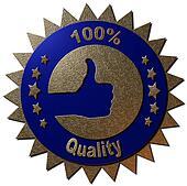 100 % Quality (blue)