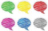 Round speech bubbles