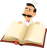 Chef Cook Holding Recipes Book