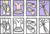 Set of ballerina accessories