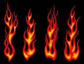 Tribal tattoo flames