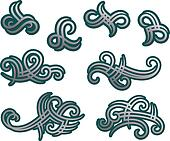 Tribal tracery elements