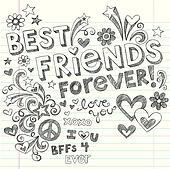 Best Friends Sketchy Doodles Vector