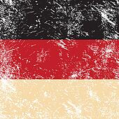 Germany retro flag