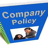 Company Policy Book Shows Rules For Employees