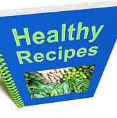 Healthy Recipes Book Shows Preparing Good Food