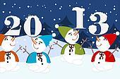 2013 - dancing snowman
