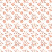 Seamless Peach & White Damask