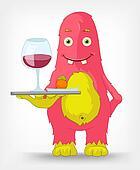 Funny Monster. Waiter.