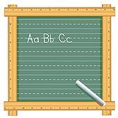 Ruler Frame Chalkboard, ABC