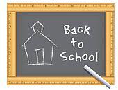 Ruler Frame Chalkboard, Schoolhouse