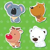 cute animal stickers