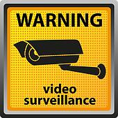 sign warning of surveillance camera
