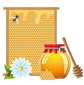 natural honey illustration