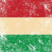 Hungary retro flag