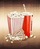 Popcorn, drink and two tickets