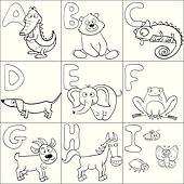 Coloring book with alphabet 1