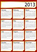 Gold sticker calendar 2013
