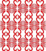 Swan symbol pattern. Red and white.