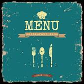 Vector restaurant menu. Retro style design