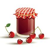 Vector Jar and Cherries