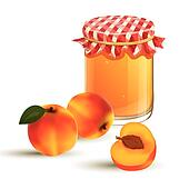 Vector Jar and Peaches