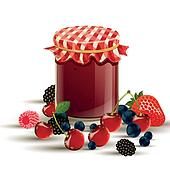 Vector Jar and Berries
