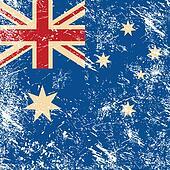 Australia retro flag