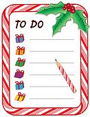 Christmas Gift To Do List