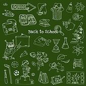Back to School Doodles - Hand-Drawn Vector Illustration Design Elements