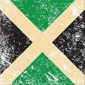 Jamaica retro flag