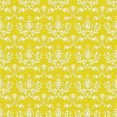 Seamless Bright Yellow Damask