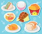 cute food stickers02