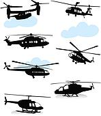 Various helicopter